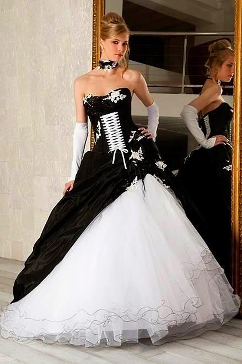 Online get cheap unique wedding dress for Unique black and white wedding dresses