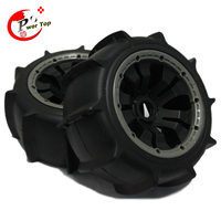 King Motor Baja Sand tire rear completed set with posion rim for HPI BAJA 5B Parts Rovan