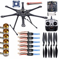 F08618 A HMF S550 F550 Upgrade Hexacopter 6 Axis Frame Kit With Landing Gear ESC Motor