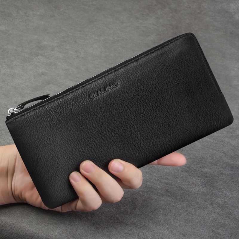 Multi-função de Bolso De Couro Genuíno Saco Shell Case para iphone 5 7 8 Mais Bussiness Carteira Tampa do Cartão Slots para iPhone 7 8 Plus