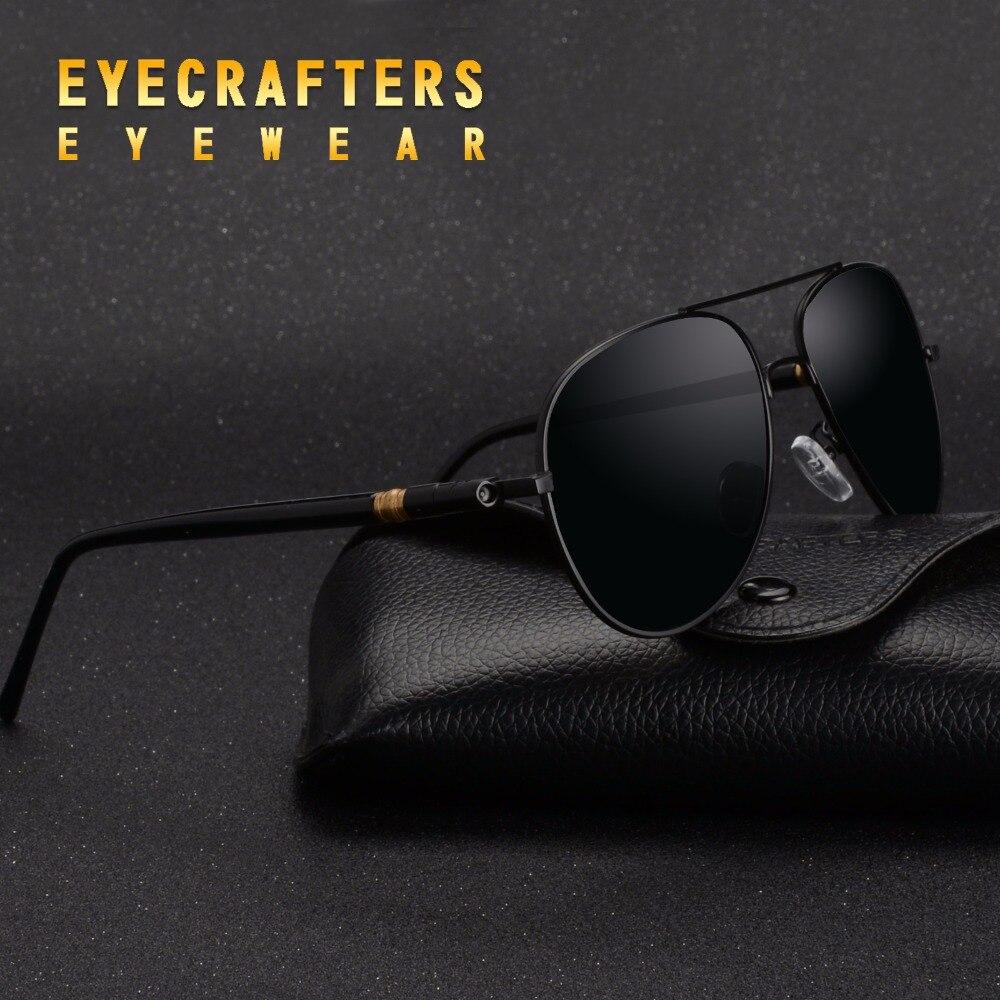 Polarized Driving Mirrored Pilot Sun Glasses Oculos Eyewear For Male UV400 Eyecrafters Mens Sunglasses