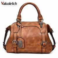 Bolsa feminina 2020 do vintage bolsa de ombro feminina bolsas de couro macio crossbody sacos para senhoras boston bolsa feminina kl279