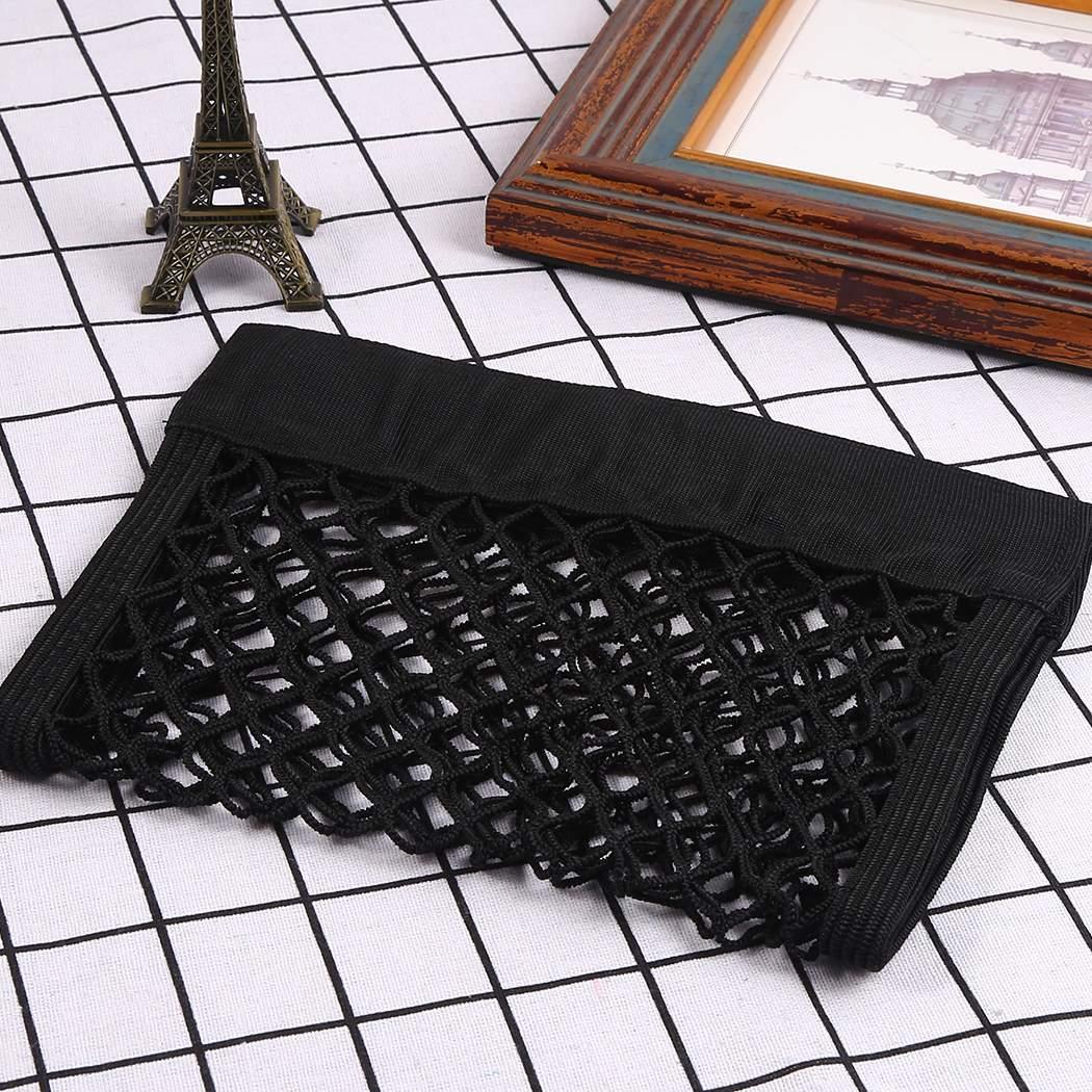 150*80 Black Auto Car Storage Mesh Resilient String Bag Holder Pocket Organizer