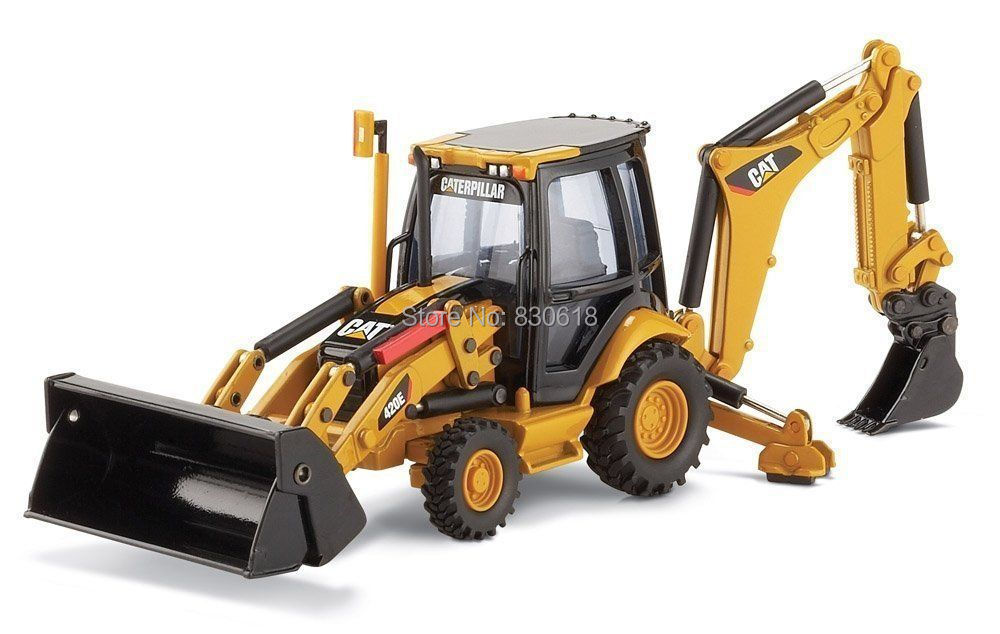 1:50 skala DieCast Model 55143 norscot caterpillar kat 420E CENTER PIVOT BACKHOE LOADER legetøj