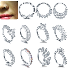 1PC /Lot Copper Real Septum Rings Pierced Nose Piercing Septo Ear Cartilage Tragus Helix Clicker Body Jewelry