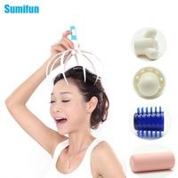 1Pcs Sumifun Body Massager Anti-stress Tens Pain Relief Octopus Head Scalp Neck Stress Release Relax Massage Claw Massager C676