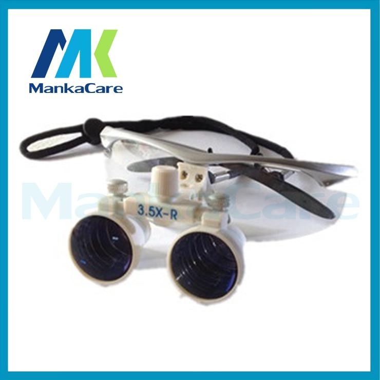 Manka Care-3.5X lunettes de loupe binoculaires chirurgicales dentaires 100% verre optique chirurgical original argent et blanc