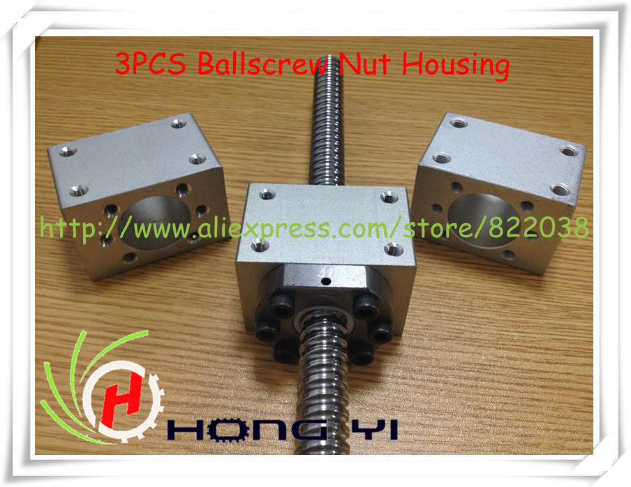 3pcs Sets Ballscrew Nut Housing Bracket Holder For SFU1604 SFU1605 SFU1610 RM1605 Only Ballscrew Nut Housing