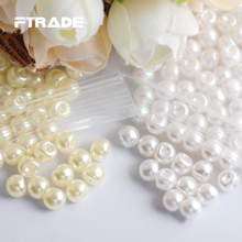 New 6MM ABS Plastic Side Hole Pearls 500 Pcs/Lot White/Ivory 2 Colors Options For Material Decorative Beads Jewelry DIY