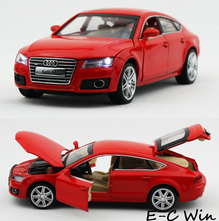 Car Alloy Model 1:32 Audi A7 Diecast Toys Vehicle Collection Sound&Light Kid Gifts - E-C WIN store