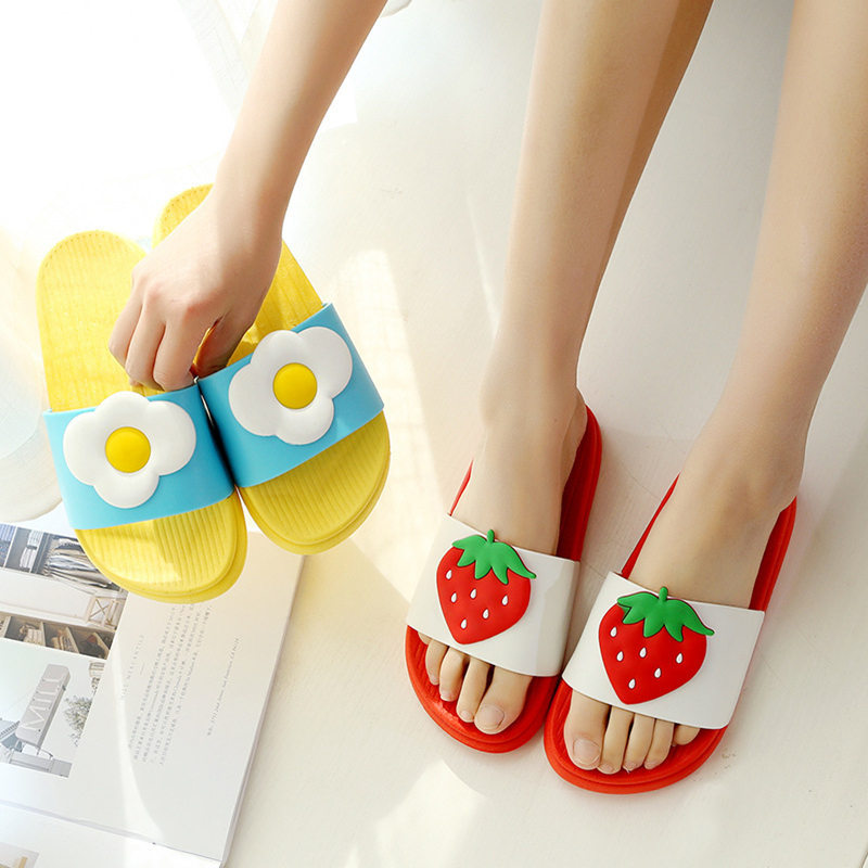 Summer New Women Slippers Cute fruit bathroom Bunny Home Indoor Slippers Non-slip Soft Bottom Beach Slippers orient er1t001b page 3 page 5