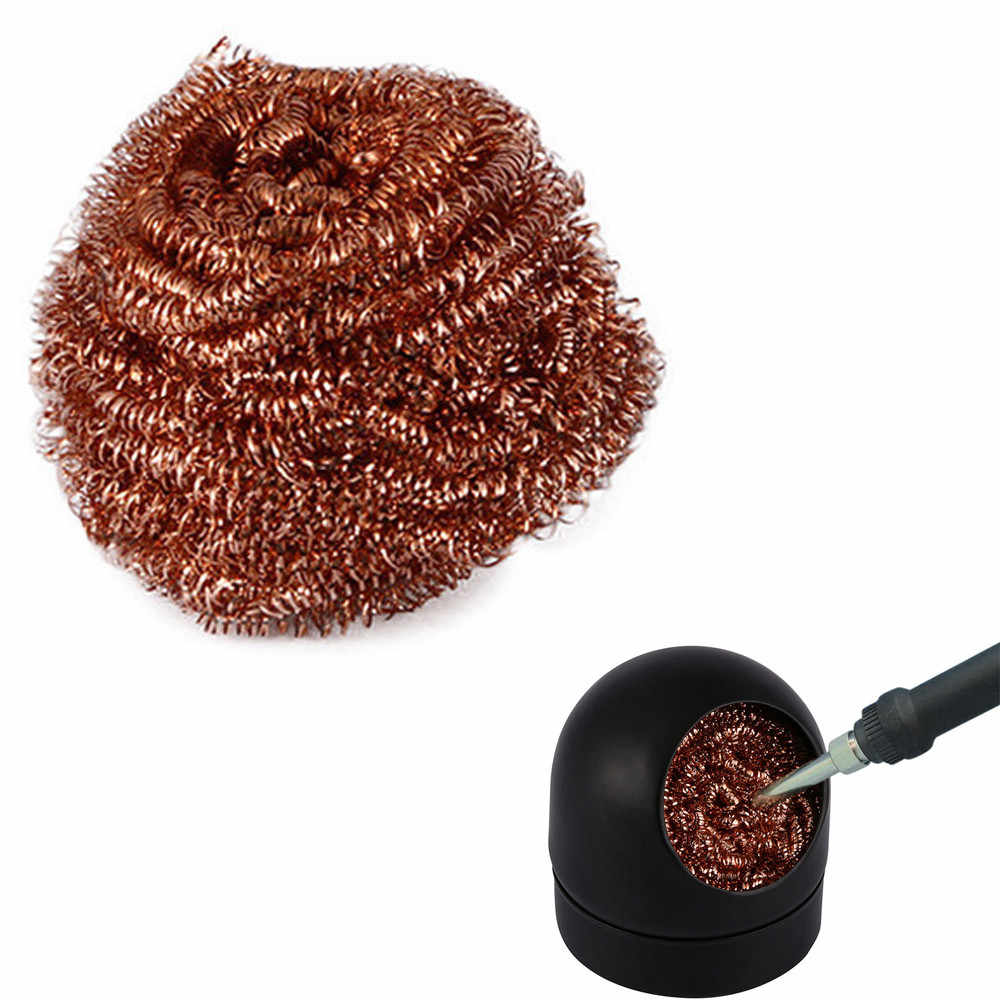2pc Soldering Solder Iron Tip Cleaner Steel Cleaning Wire Ball Heavy DutyWelding new arrival  Home Decor dropshiping