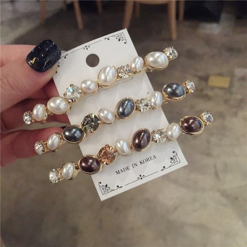 63d05a89 Horquillas de perlas Retro de Corea accesorios para el cabello brillantes  pinzas para el cabello para mujeres Horquillas para el cabello