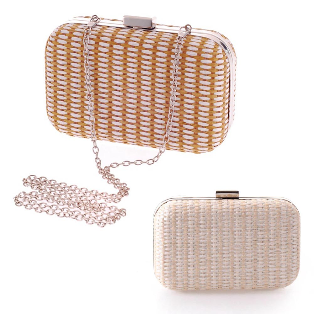 2 Colors New Women's Diamond Party Clutch Upscale Woven Evening Bag Wedding Party Handbag Purse Shoulder Messenger Bag 88  BS88 europe new upscale butterfly diamond evening bag full diamond party handbag clutch