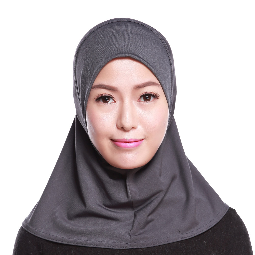 Muslim Women's Long Shawl Wrap Hat Cap HeadScarf Hijab Underscarf Headwear Fashion Scarf