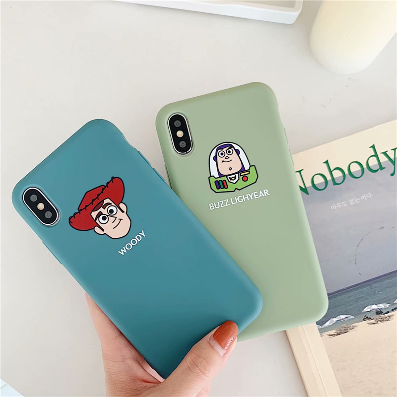 GYKZ Cartoon Woody Buzz Lightyear Phone Case For <font><b>iPhone</b></font> XS MAX X XR 7 8 <font><b>6</b></font> 6s Plus <font><b>Toy</b></font> <font><b>Story</b></font> Soft Matte Back Cover <font><b>Fundas</b></font> Coque image