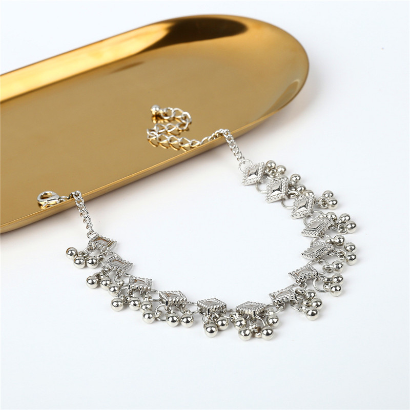 2018 Fashion Vintage Anklet Foot Bracelet On The Leg In Gold/Silver Color Stainless Steel Jewelry For Women Indian Halhal 3