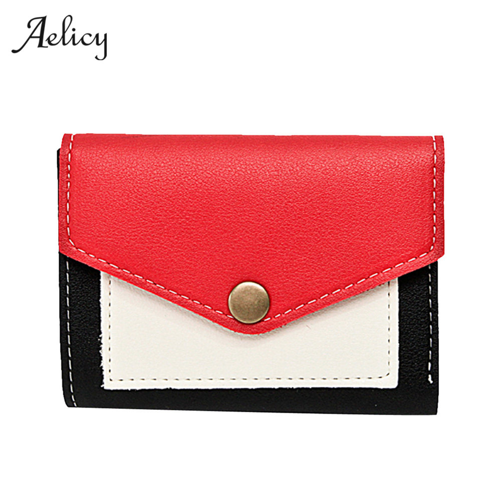 Aelicy Luxury Brand Fashion Women PU Leather Women Clutch Short Purse Wallet Card Holder Handbag Casual Wallet Portemonnee 0913 casual weaving design card holder handbag hasp wallet for women