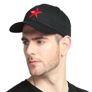 Кепка унисекс, кепка с пятью острыми звездочками, Кепка с козырьком для мужчин, с вышивкой, красная Кепка для пар, шляпа для папы, 2019