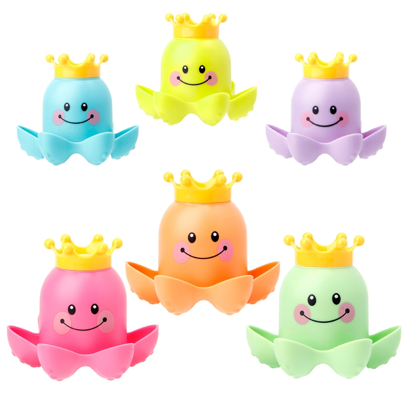 Top Quality 3Pcs Octopus Shape Cup Bath Toy Soft Stacking Baby Toys Kids Toy Play Water Pool