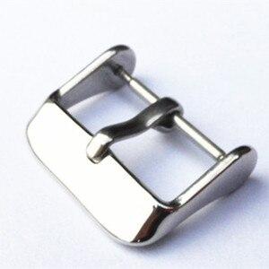 Image 1 - Groothandel 100 stks/partij horloge gesp 304 rvs horloge gesp glad polish met lente bar 14 MM 16 MM 18 MM 20 MM 22 MM