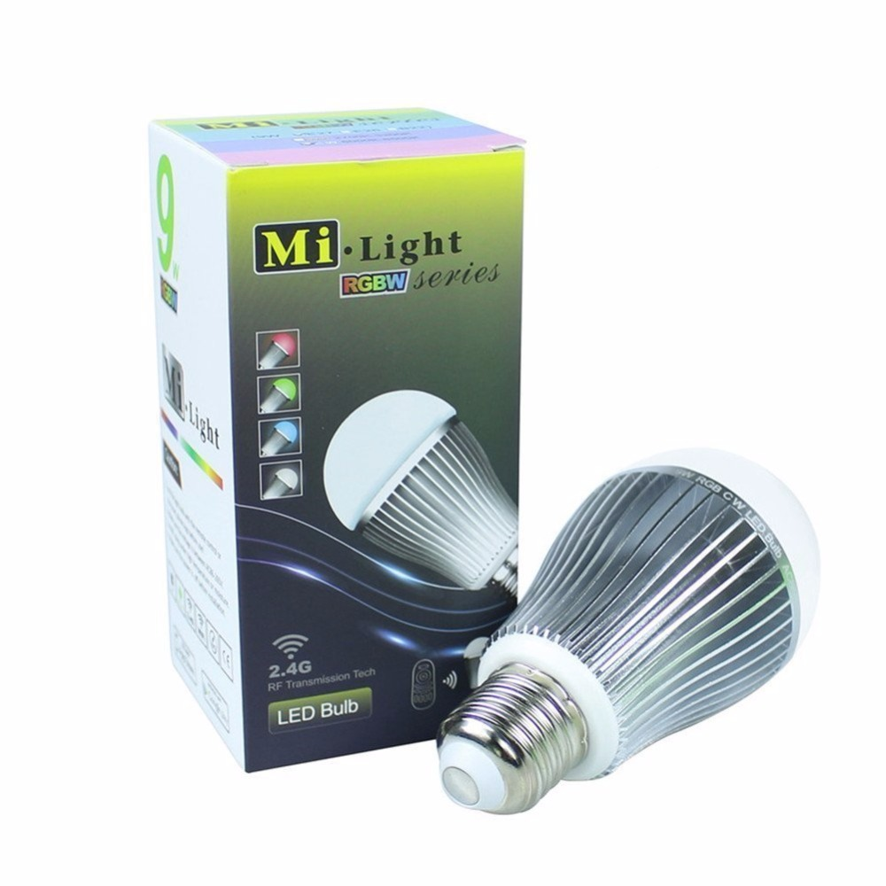 Mokungit 2.4G Mi.Light Wireless  E27 9W RGB+Cool White 6000K-6500K Wifi Lampada LED Dimmable Bulb Lamp Spot Light
