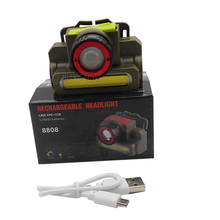 LED Head Light CREE XPE+COB Zoom In/Zoom Out dimmer able USB Rechargeable Head Lantern Lamp with18650 Battery