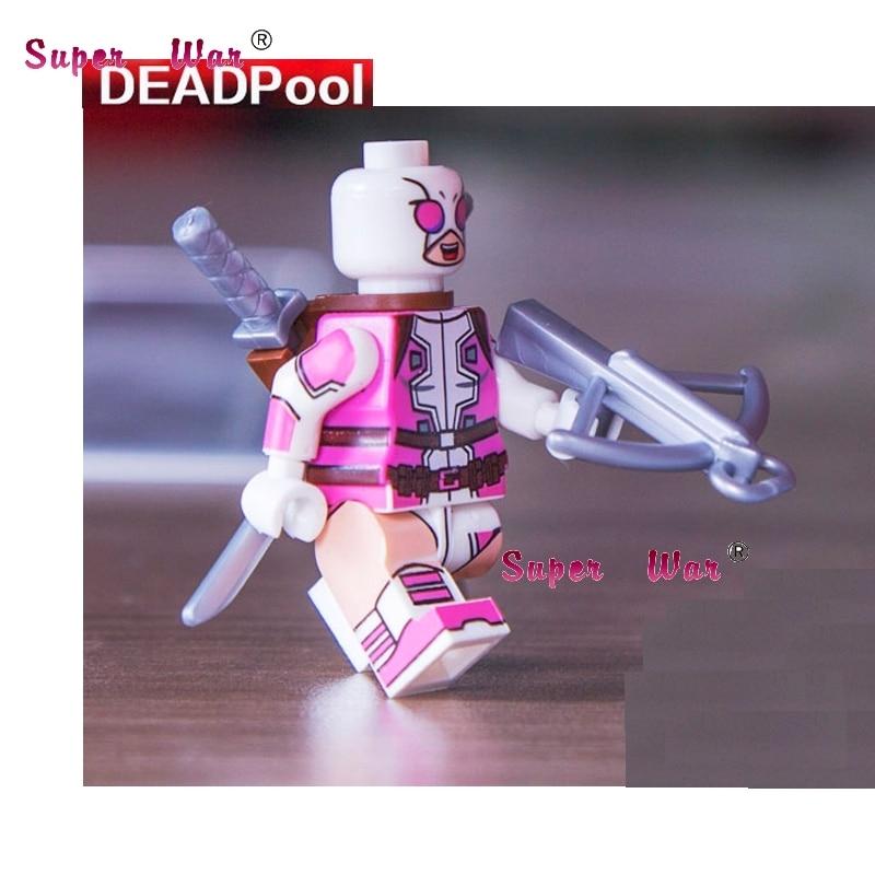 1PCS superhero marvel avengers Decool Gwen Deadpool building blocks sets model bricks toys for children
