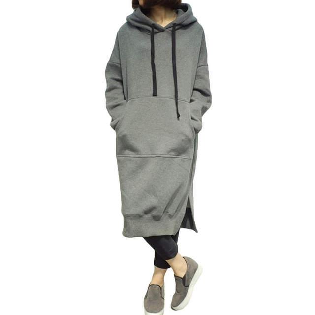 2017 full promotion autumn winter women hoodie dress plus size
