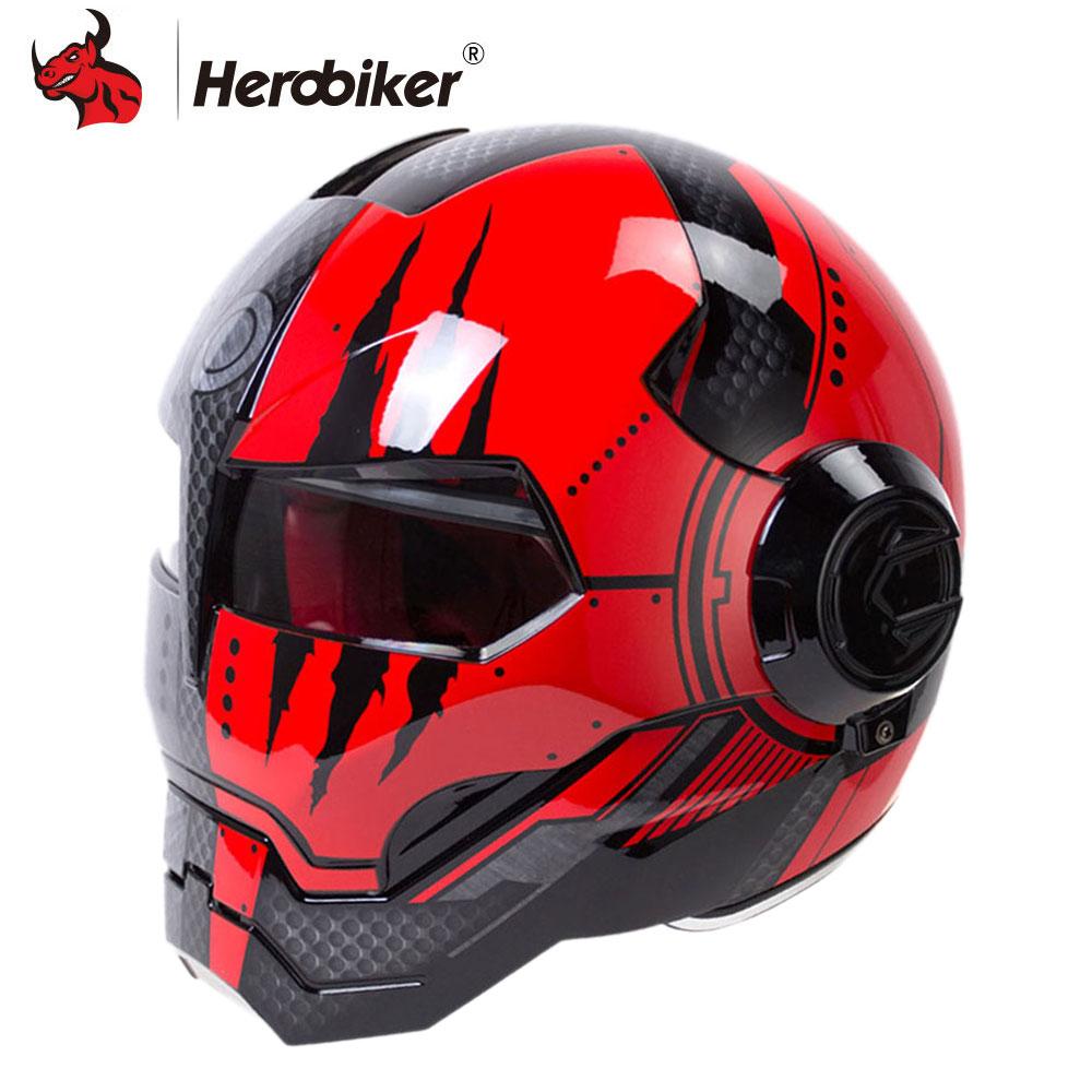HEROBIKER Moto Casque Hommes Moto Casque Moto Capacetes Casco Rétro Casque Moto Casque D'équitation Casque Motocross