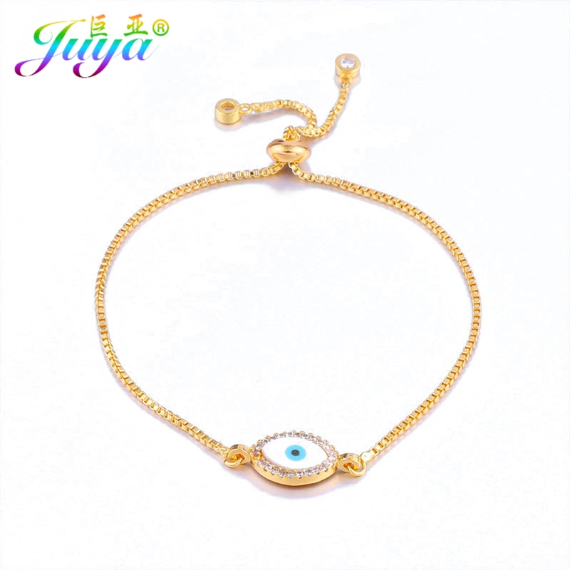 Handmade Shell Jewelry Supplies Gold/Silver/Rose Gold Evil Eye Charm Bracelets For Women Men Party Jewelry Gift