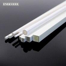 ABS00 48 יחידות סטירן העגול ABS מוט, כיכר ABS מוט, עגול צינור צינור חלול, צינור מרובע צינור חלקים אדריכלי