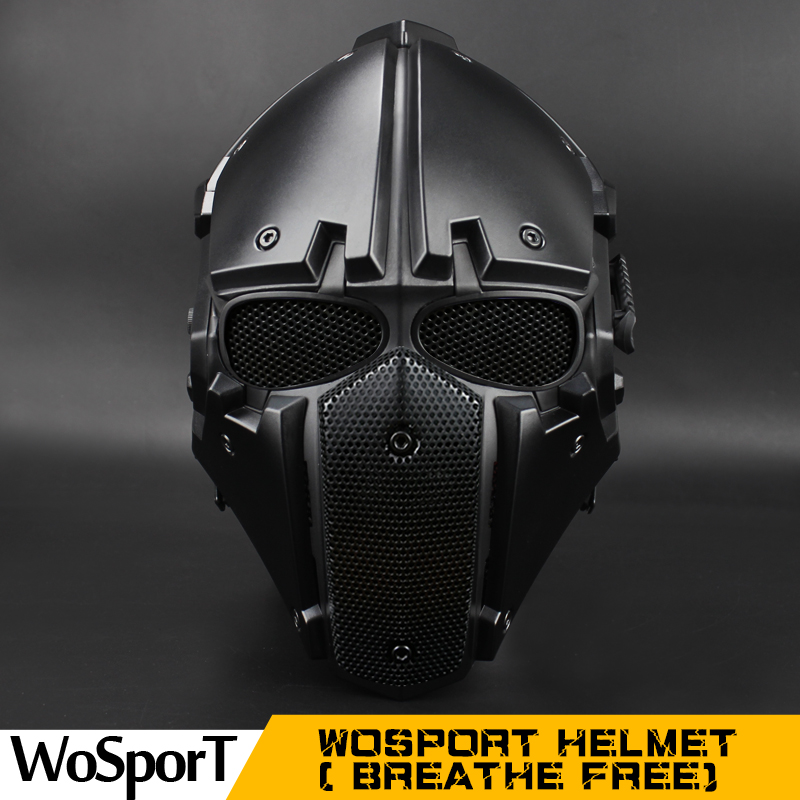 WoSporT NEW  Breathe Free Tactical OBSIDIAN GREEN GOBL TERMINATOR Helmet & Mask goggle for Hunting Paintball Military Motor ride