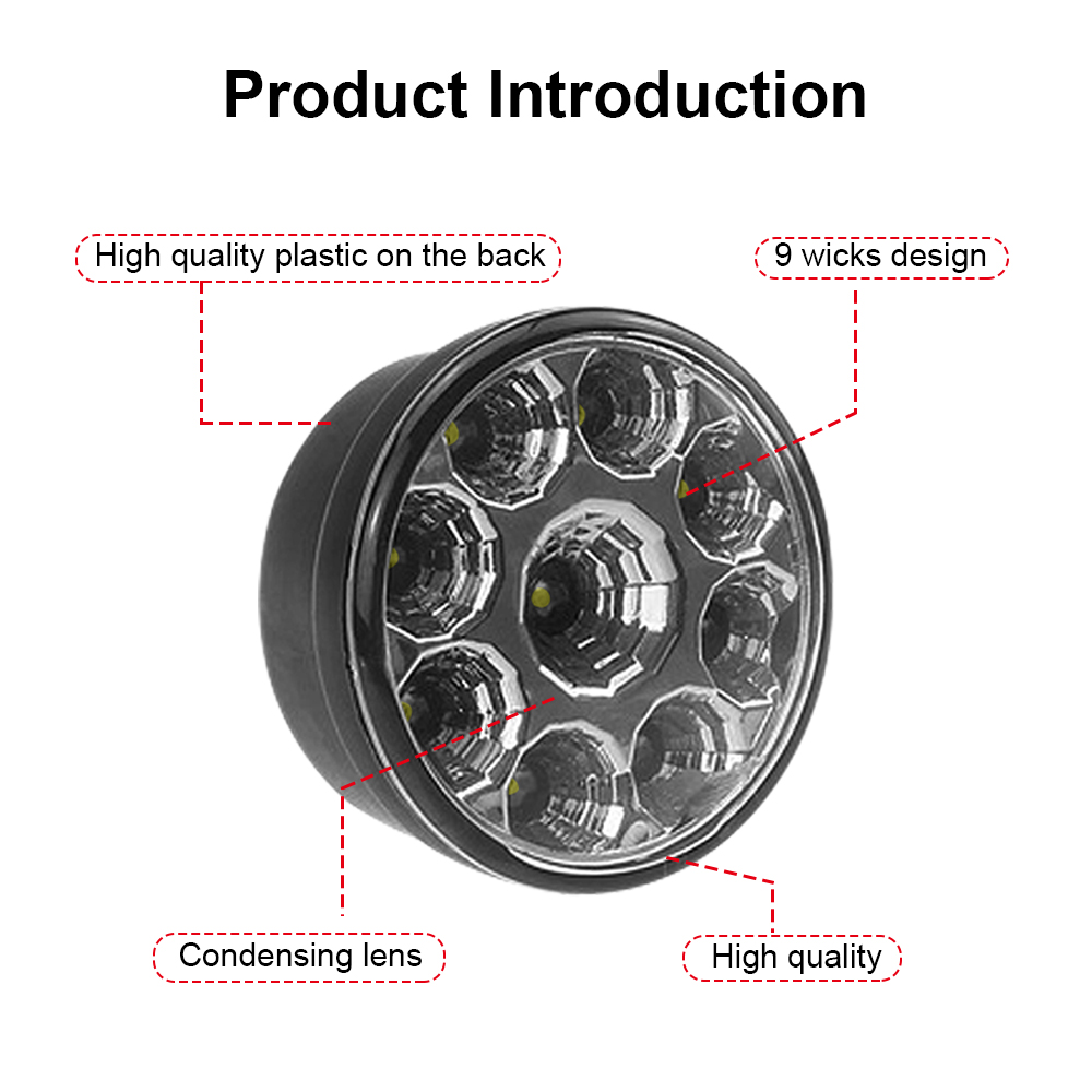 Car Light Assembly Lvtusi 2pcs 9w 9 Led Daytime Running Light Waterproof Round Fog Light Led Auto Drl 12v White Diy Cree Chip For All Cars Ej Automobiles & Motorcycles