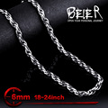 Wholesale 6mm Width Man's Fashion Cool Necklace Chain Stainless Steel Man's Cheap Chain Necklace BN1028