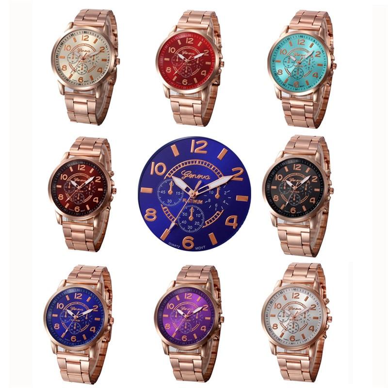 Luxury Womens Quartz Watch Fashion Stainless Steel Rose Golden Dress Watch Clock Women Relogio Feminino Free
