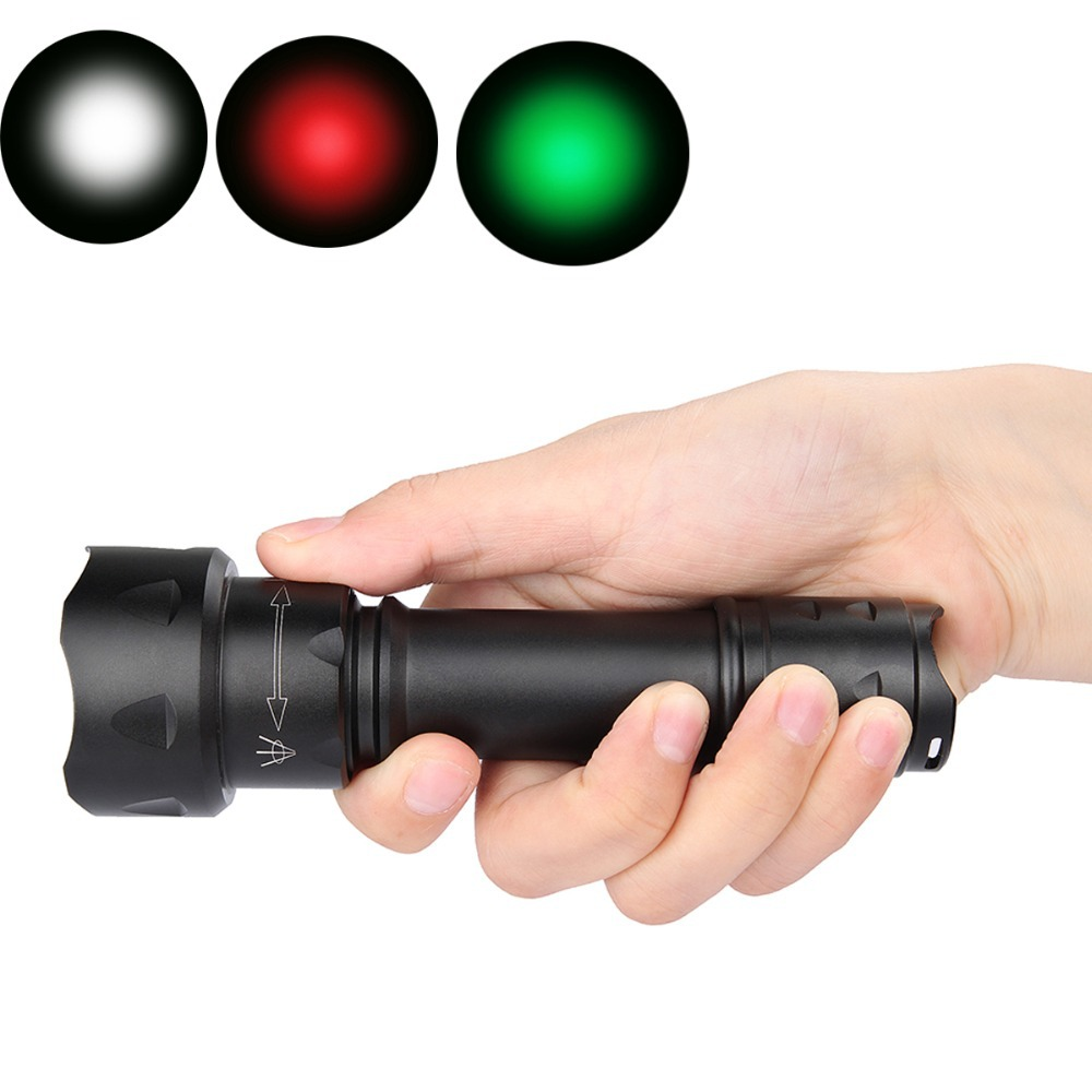 UniqueFire Mini T20 XPE 3 Modes Green/Red/White Light LED Rechargeable Focus Flashlight Zoomable 38mm Aspherical Lens Light Lamp new uniquefire uf 1407 xre black zoomable led flashlight green red white light 5 mode 38mm lens portable camping lamp