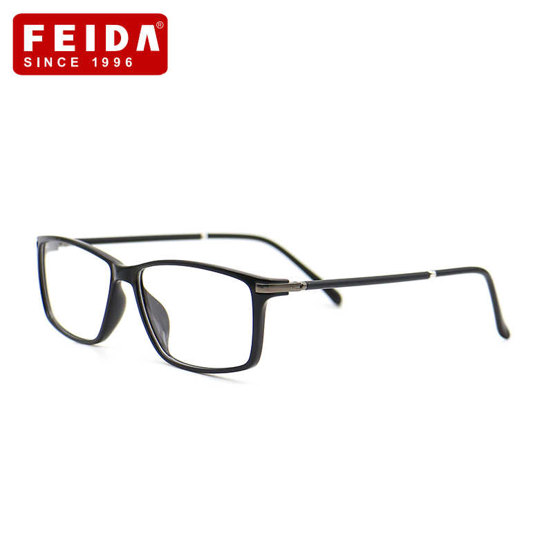 be0f0f4006 FEIDA Women Brand Glasses Frame TR90 Reading eyeglasses Optical Retro Glasses  Ultra-Light Frames Reading