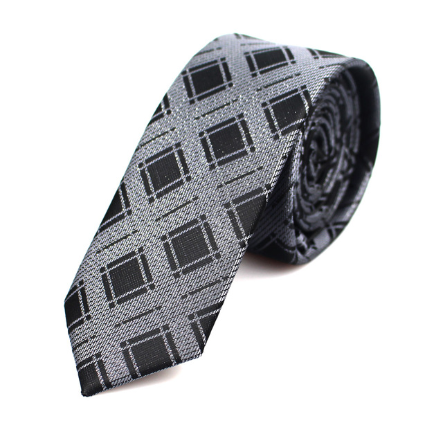 New Men's casual slim ties Classic polyester woven party Neckties Fashion Plaid dots Man Tie for wedding Business Male tie 2