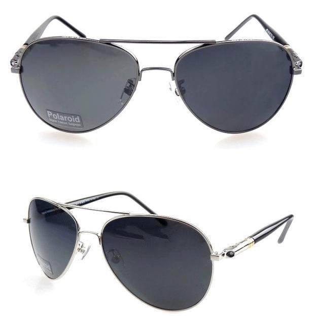 2015 Мужчин Мужской Большой Размер Aviatorr Пилот Большие солнцезащитные очки поляризованные очки вождения очки 1.1 мм поляризованные линзы 4 цветов