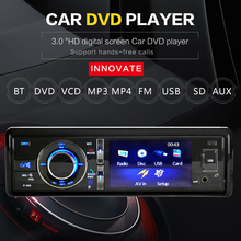 3″ Single 1 Din Car DVD Player Radio Stereo Detachable Panel Video Bluetooth Subwoofer AUX Camera In CD MP5 Audio
