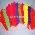 Fina en polvo de Color azul, verde, rojo, rosa, amarillo, naranja y púrpura de neón pigmento esmalte de uñas que hace Soapmaking velas Non-Cosmetic