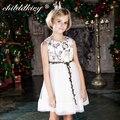 ChildDkivy 3-12Y Girls Vestido de Encaje Vestido de Princesa para Niñas Ropa de Bebé Niñas Vestido de Verano 2017 Vestidos de Los Cabritos Ropa de Niños