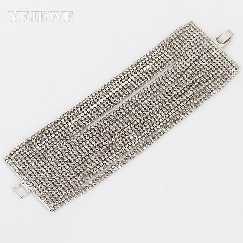 2017 bruiloft armbanden en armbanden Nieuwe collectie full star super glimmende strass kristal zilveren dames schakelketting armbanden B005