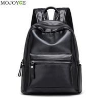 New PU Leather Backpack Korean Women Backpack Leisure Student School Bag For Teenager Girls Soft