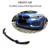 Carbon Fiber Car Front Bumper Lip Spoiler Apron for BMW F20 M Sport M135i M140i Hatchback 2 Door 4 Door 2016 2017 2018