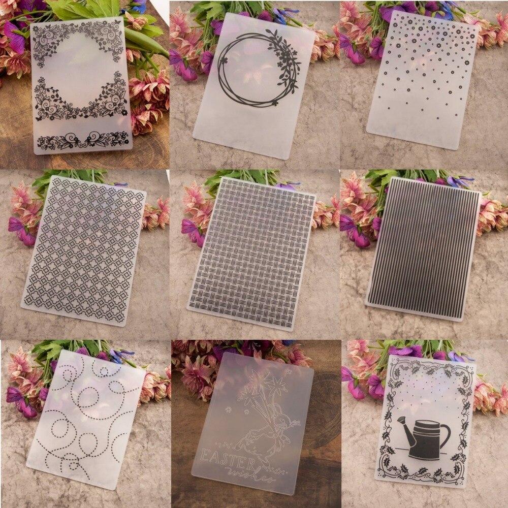 Cloud Embossing folders Plastic Embossing Folder For Scrapbooking DIY card XS