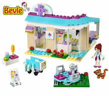 Bevle Bela 10537 Friends 203Pcs Veterinary Pet Clinic New Style Building Block Bricks Toys Compatible with LEPIN 41085