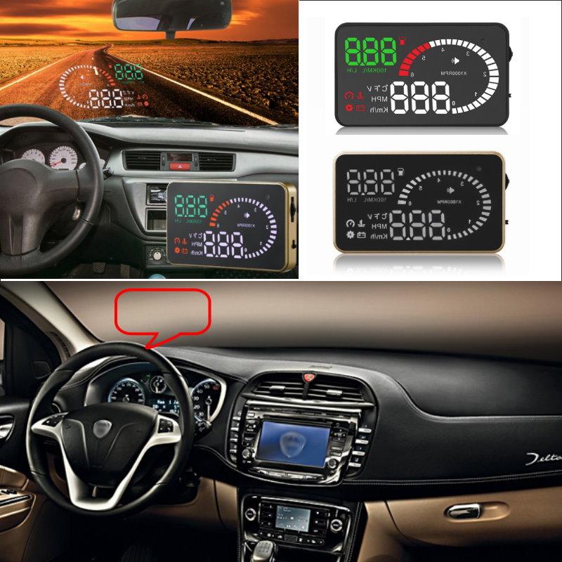 Car HUD Head Up Display For Lancia Delta/Ypsilon/Musa/Lybra/Phedra/Thesis Car Head-up Display HUD Safe Screen Projector