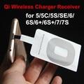 Hot qi receptor ultra-fino qi receptor de carregamento sem fio para iphone 7/7 s/6/6 s/5/5S/5c huawei xiaomi htc meizu samsung note 2/3/4